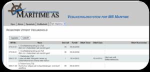 Web basert vedlikeholdssystem