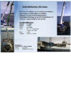 Presentasjon av arbeidsfartøy MS Aure